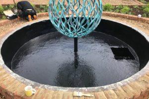 fibreglass pond lining
